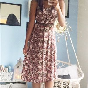 Vintage All that Jazz Floral Dress